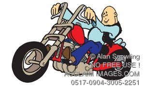 Motorcycle clipart drive a & Acclaim on clipart bald