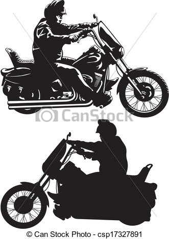 Motorcycle clipart man on Motorcycle man EPS of a
