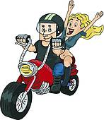 Motorcycle clipart man on Clip on Biker Man Free