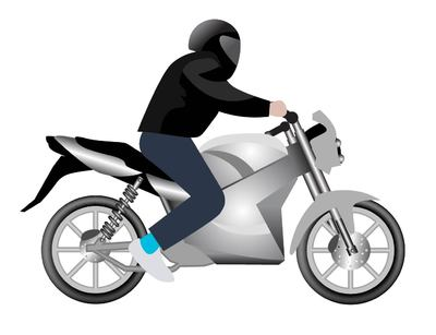 Motorcycle clipart man on Art and Man Motorbike Clipart