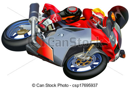 Motorcycle clipart motor racing Motorcycle of Colored Vectors Motorcycle