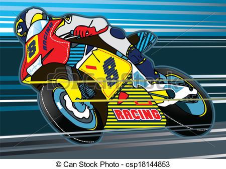 Motorcycle clipart motor racing Of Vector racing Clipart Motorbike