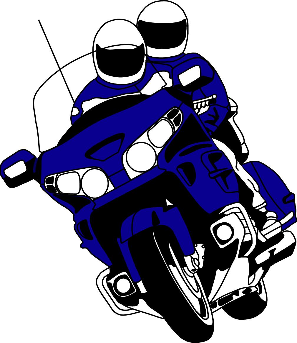 Blue clipart motorbike Collection : GWRRA Gold :