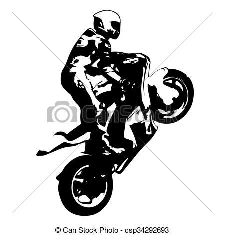 Stunt clipart bike racing Racing vector Vectors racing wheelie