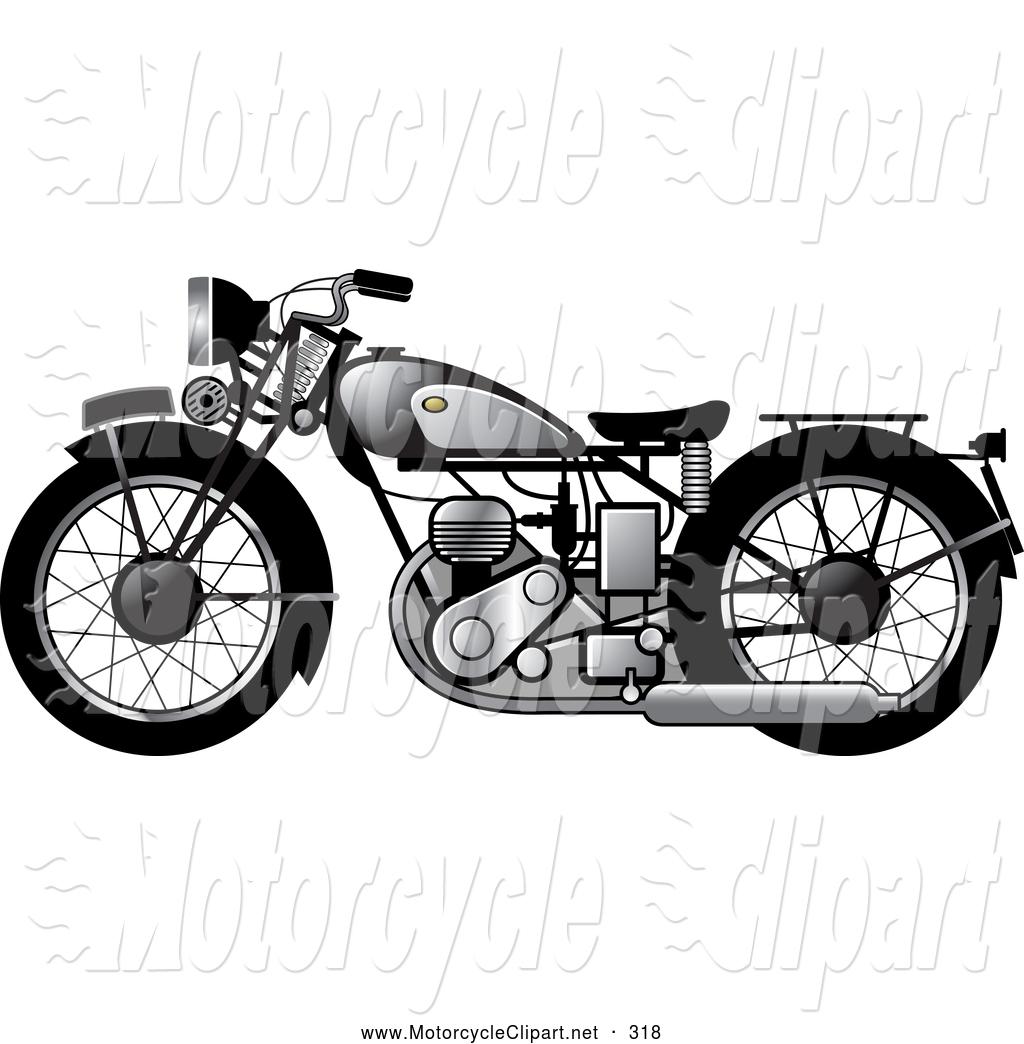Biker clipart vintage motorcycle Vintage Silver Motorcycles Motorcycle