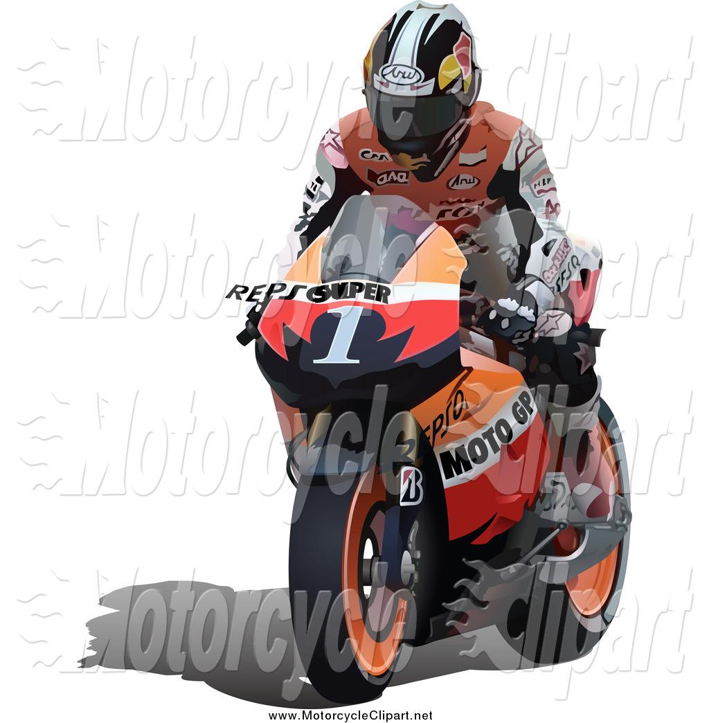 Motorcycle clipart orange Man Orange by Transportation
