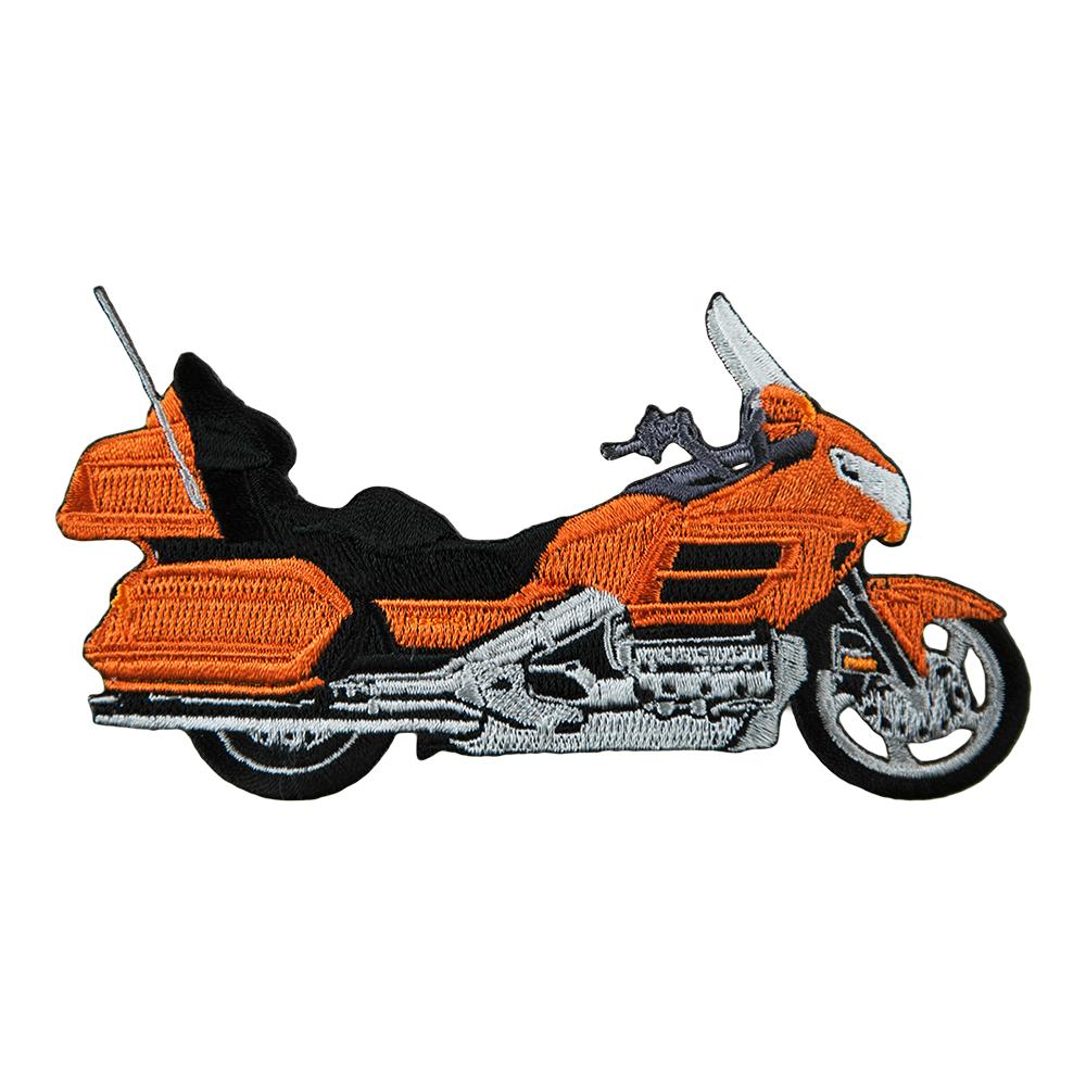 Motorcycle clipart orange Orange Embroidered Patch Honda