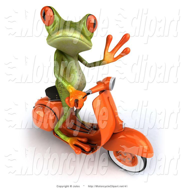 Motorcycle clipart orange Frog Pinterest Frogs  tree