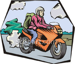 Motorcycle clipart orange Motorcycle Picture Person Free Clipart