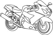 White clipart motorbike 106 Black Outline motorcycle Clip