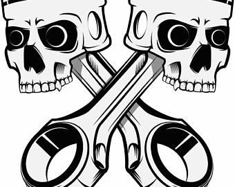Motorcycle clipart piston Car Skulls Logo Bike Pistons