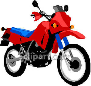 Blue clipart motorbike And Off Blue Red Road