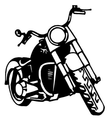 Biker clipart silhouette Harley motorcycle harley motorcycle
