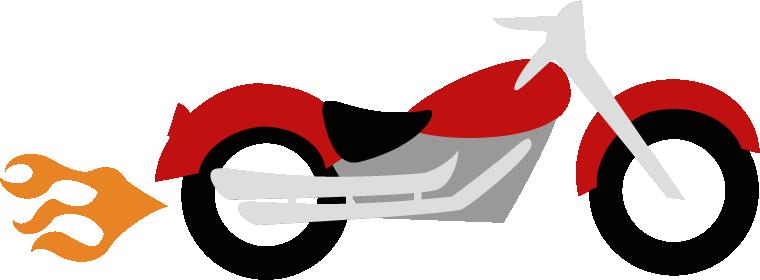 Simple clipart motorbike #3