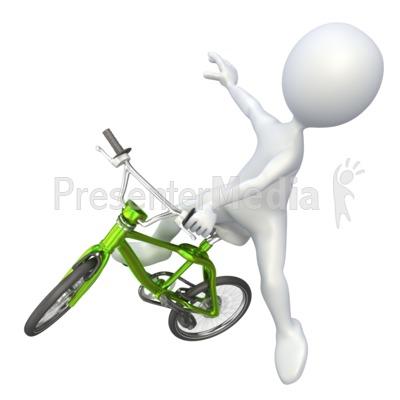 Bike clipart stick figure BMX 4263 Presentation Figure Stick