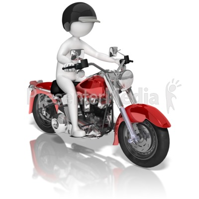 Moving clipart motorcycle Clipart On Presentation Figure Stick