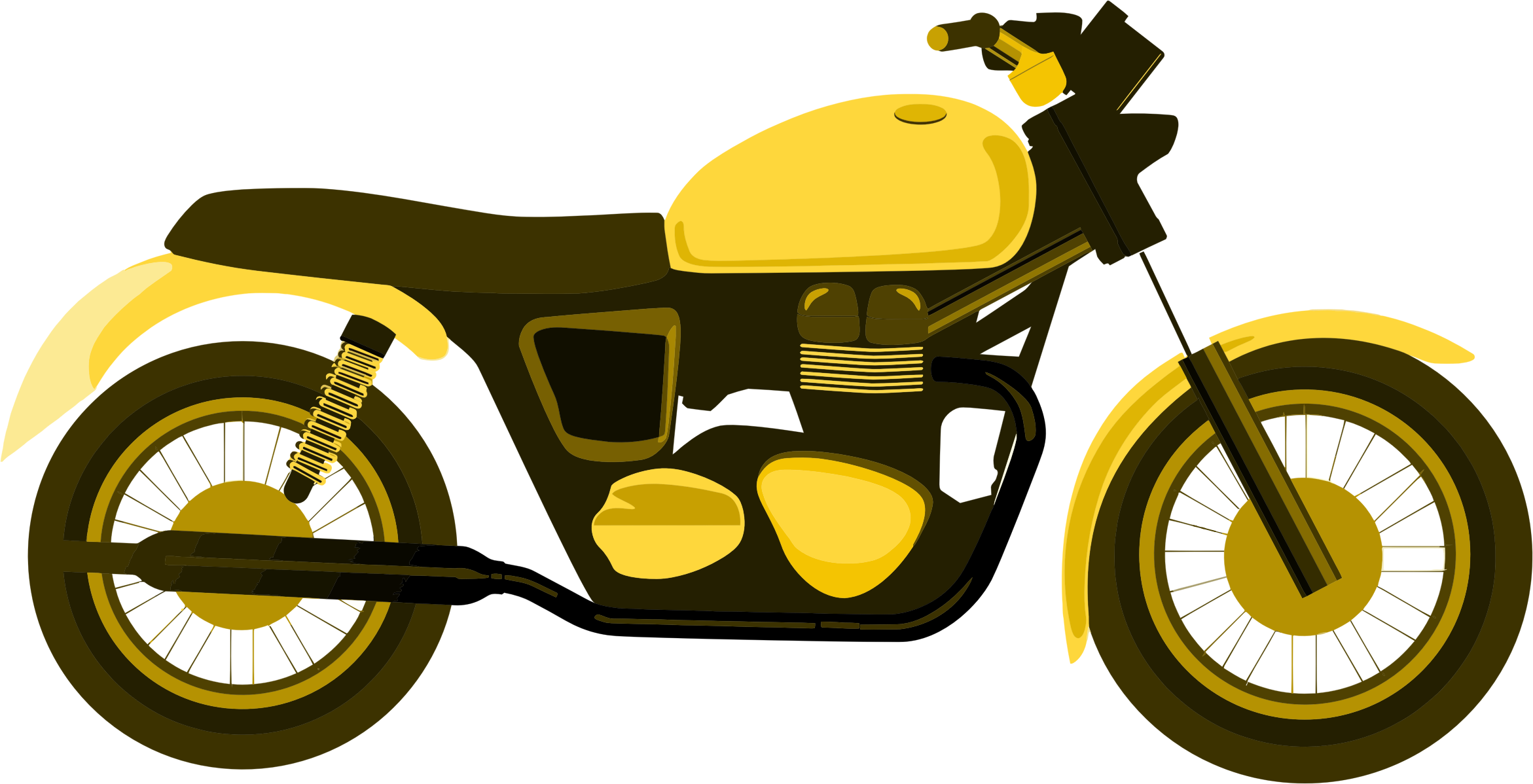 Yellow clipart motorbike Yellow Yellow Clipart Motorcycle Motorcycle