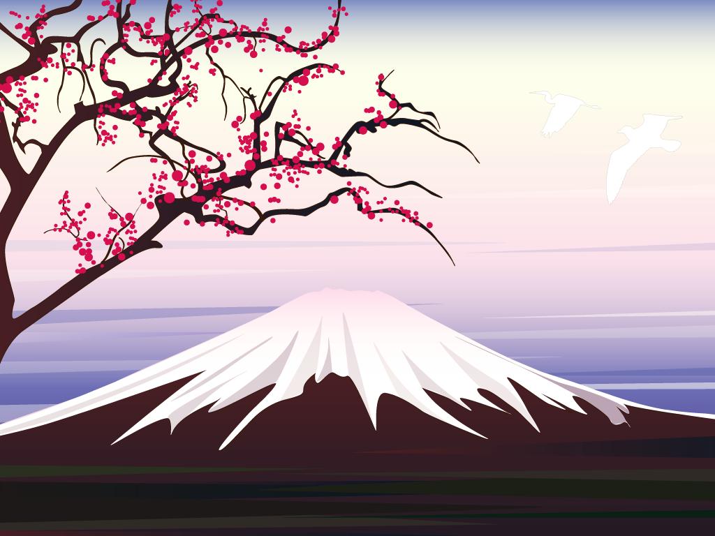 Mount Fuji clipart Dawn Wallpapers Fuji Wallpaper Illustration