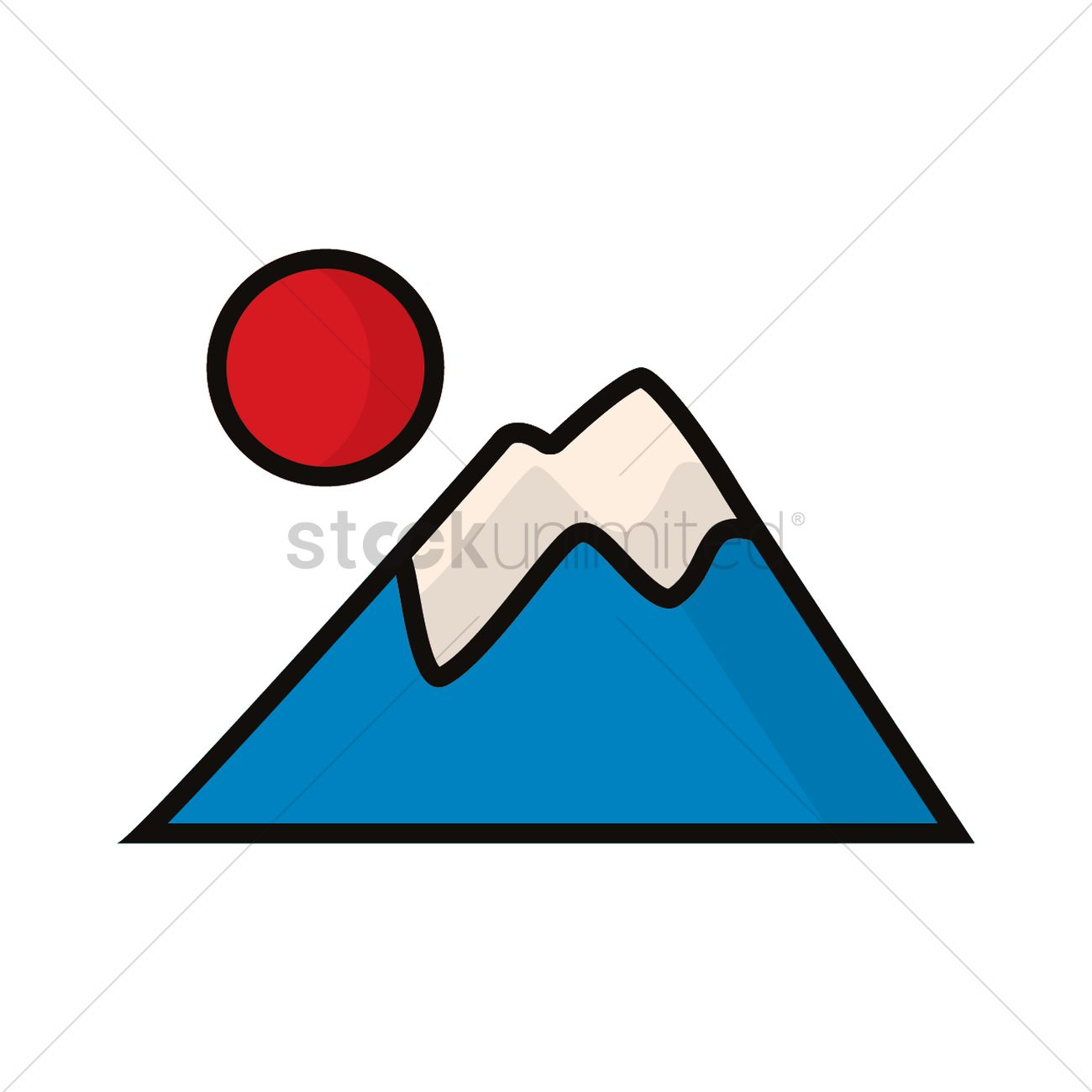 Mount Fuji clipart Vector free clipart collection Mount