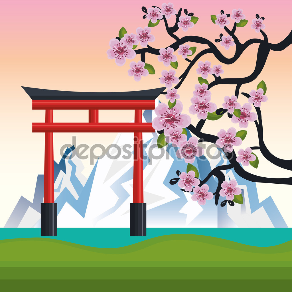 Mount Fuji clipart cartoon #15