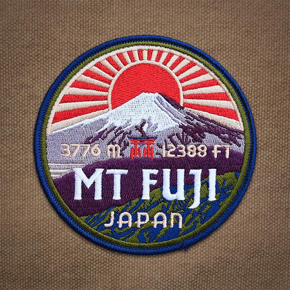 Mount Fuji clipart volcano Fuji Patch Patch Mt Fuji