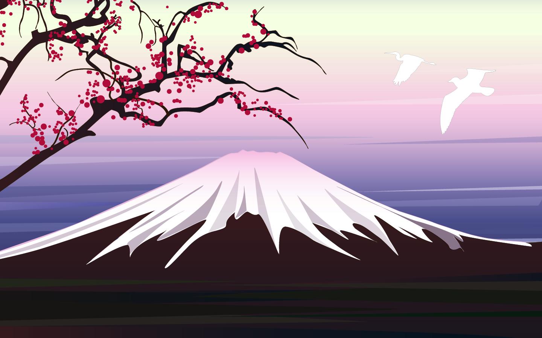 Mount Fuji clipart volcano Widescreen fuji Mt Pinterest png