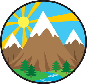 River clipart rocky mountain Clip Clip Free Mountain Download
