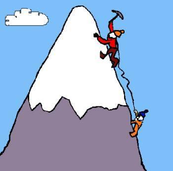Mountain clipart bottom Successful mountain Man a to