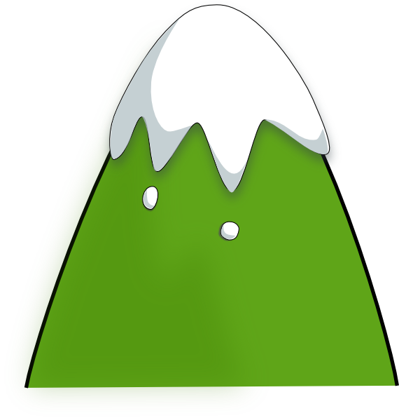 Mountain clipart cute #6