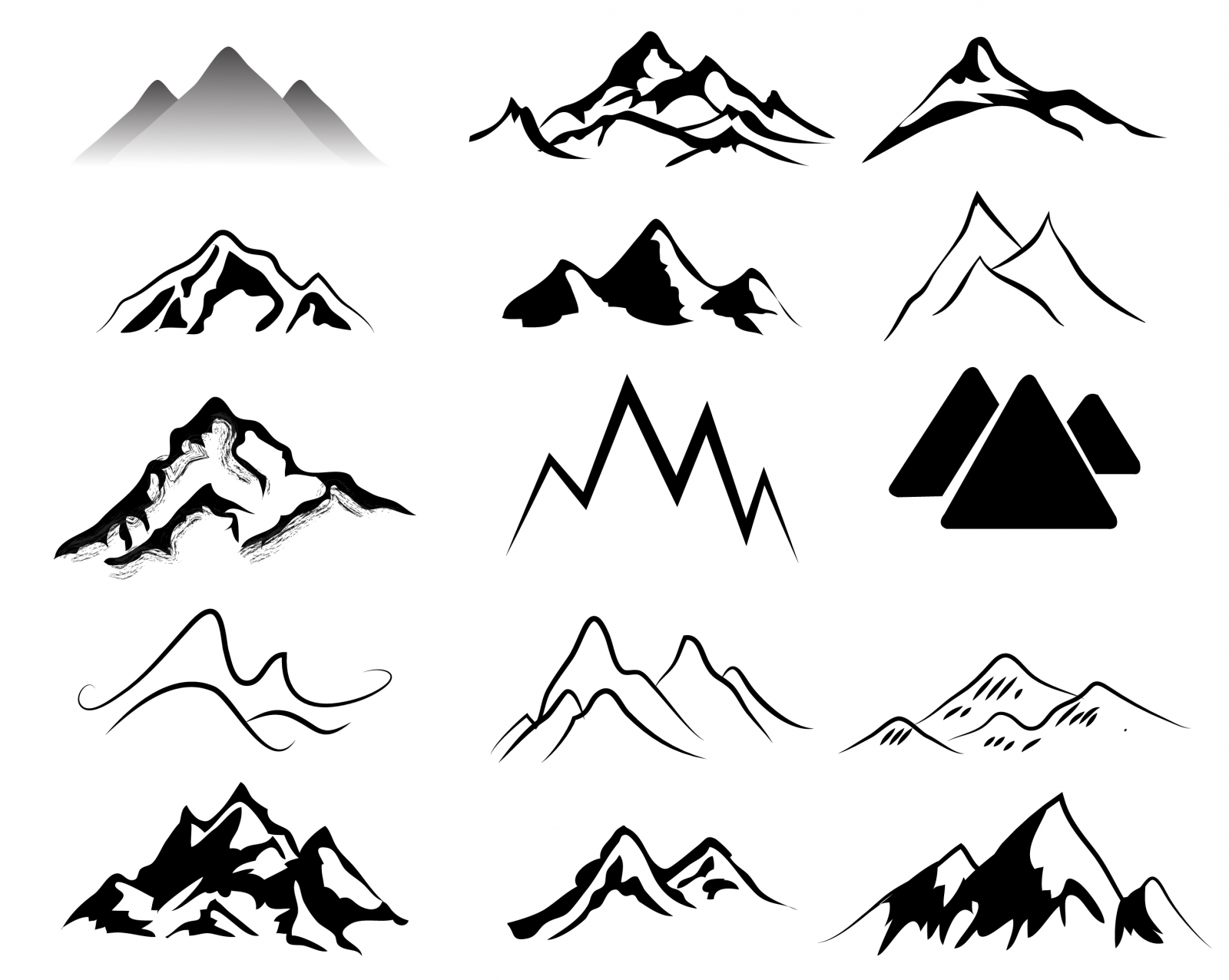 Mountain clipart cute #9