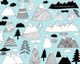 Mountain clipart cute #7