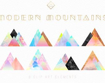 Abstract clipart mountain Geometric Art Clip Modern Texture