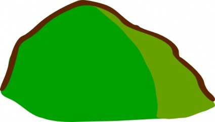 Mountain clipart grass hill #10