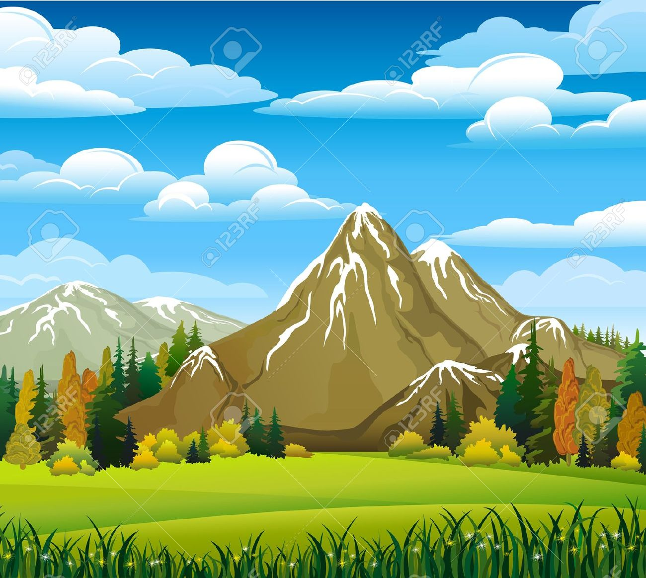 Mountain clipart ground Background Moutain clipart