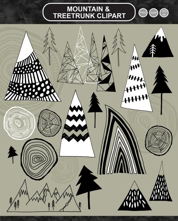 Mountain clipart hand drawn Clipart Clipart Digital Scrapbooking Adventure