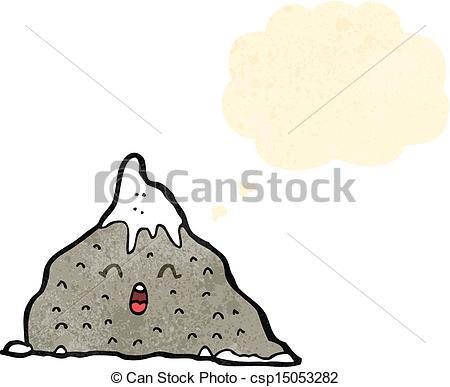 Mountain clipart happy Art cartoon  Vector mountain