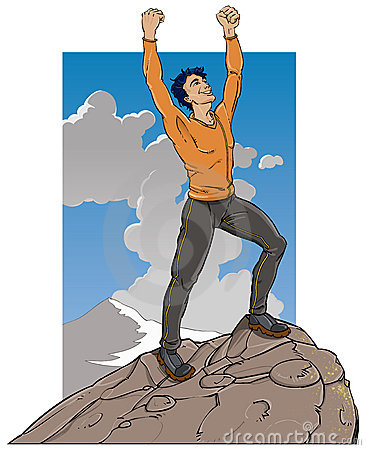 Mountain clipart happy A the mountain Happy at