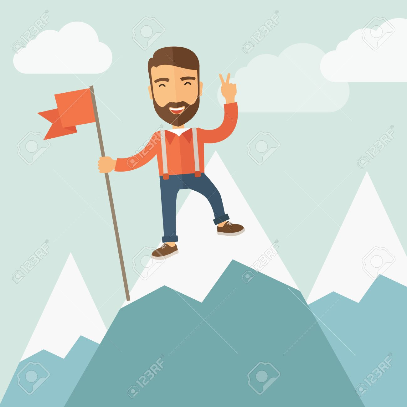 Mountain clipart happy #9