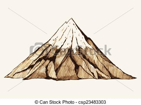 Peak clipart mountain sketch Snowy Sketch csp23483303 of Mountain