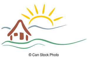 Mountain clipart mountain sun Vector mountains and  symbol