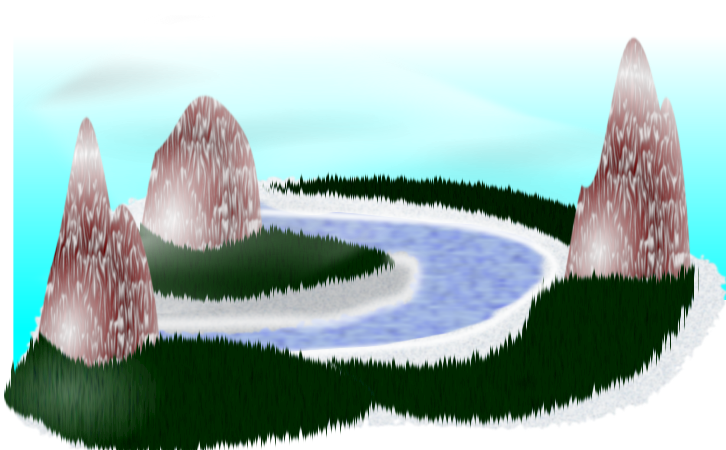Scenery clipart simple #5