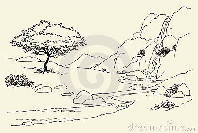 Mountain clipart stream #9