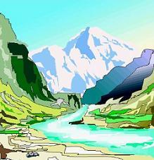Mountain clipart stream #8