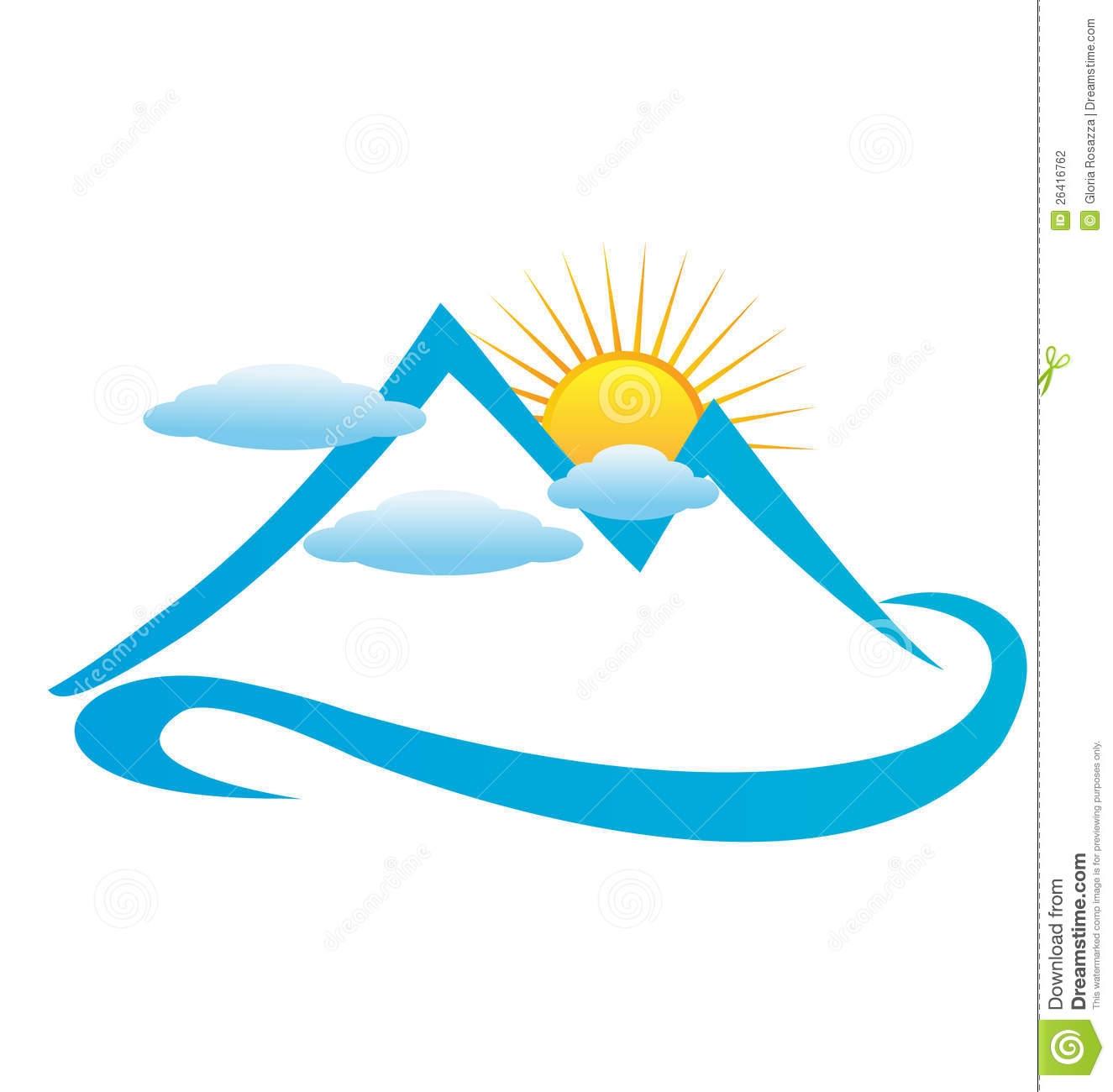 Sun Sun mountains Green icon