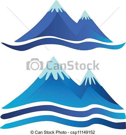Mountain clipart two mountain #11