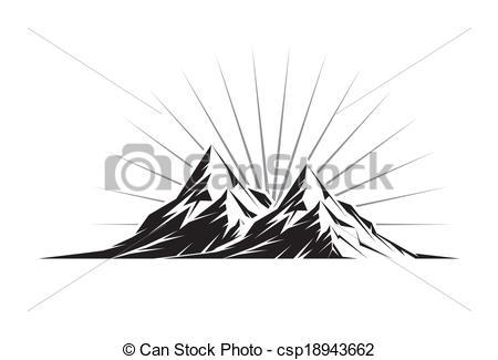 Mountain clipart two mountain #12