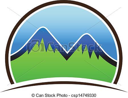 Mountain clipart two mountain #8