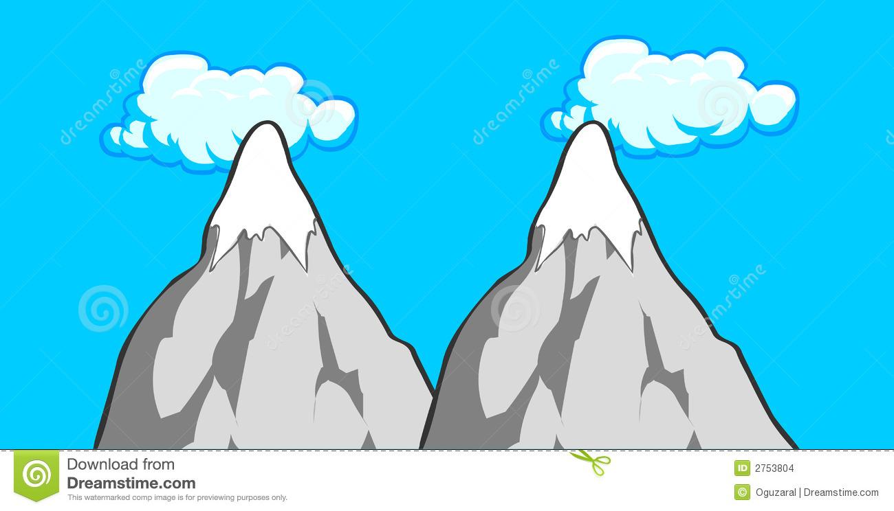 Mountain clipart two mountain #10