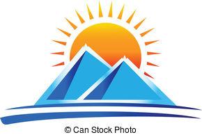 Mountain clipart two mountain #9