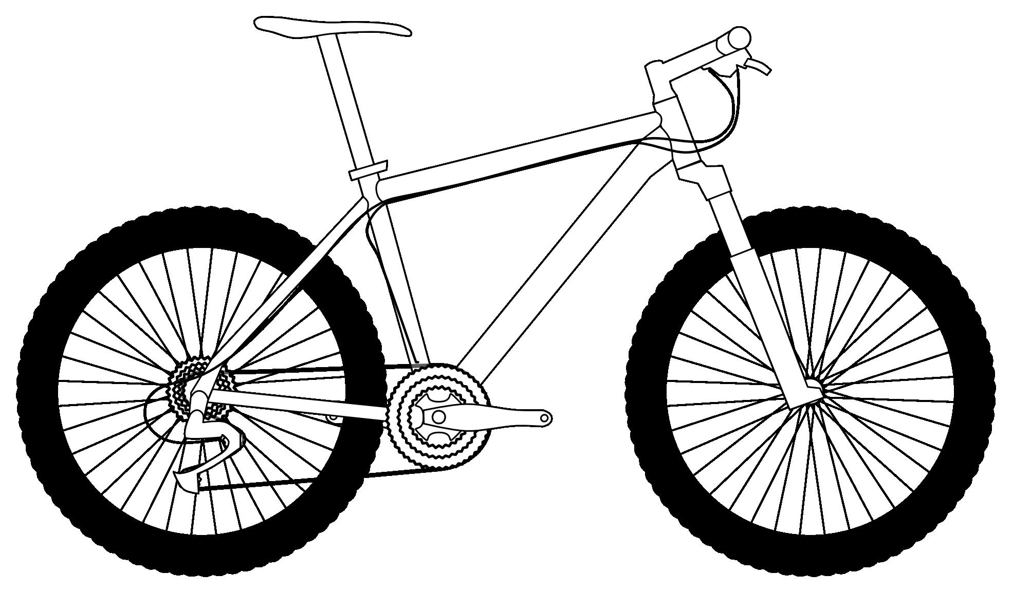 Bike clipart drawn Clipart Images White Black Clipart